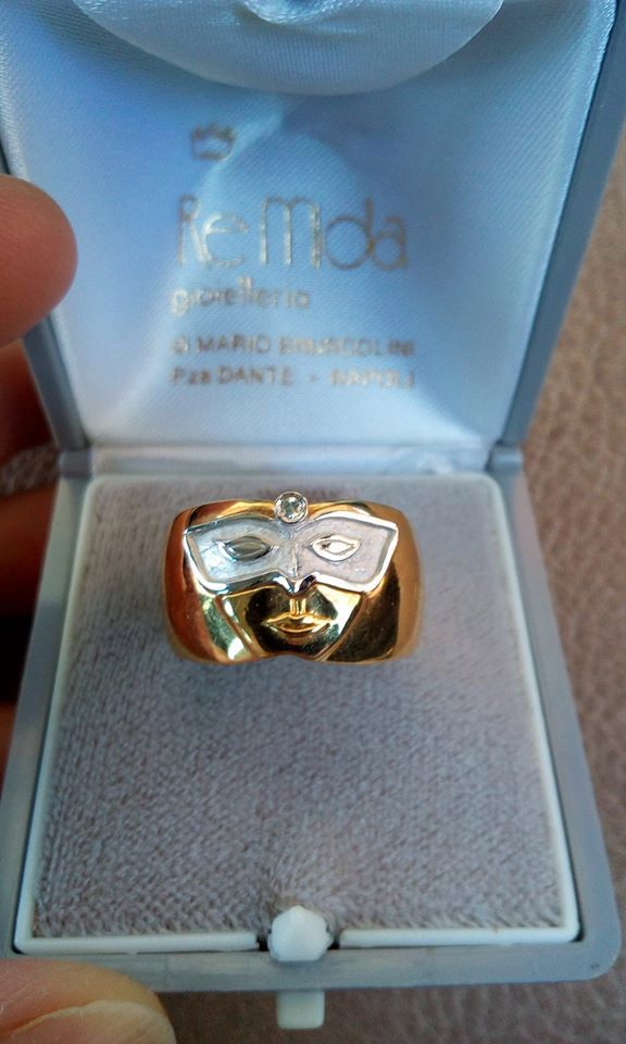 Gold Ring Purposed in Engagement